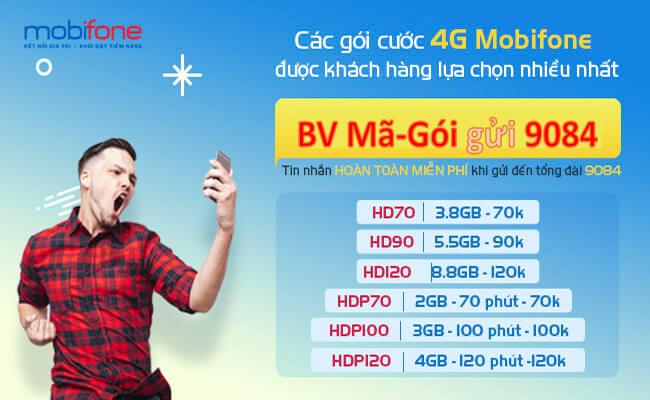 Các gói cước 4G MobiFone đang được nhiều khách hàng đăng ký