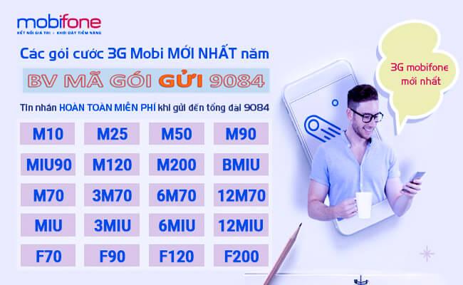 Tổng hợp các gói cước 3G MobiFone mới nhất