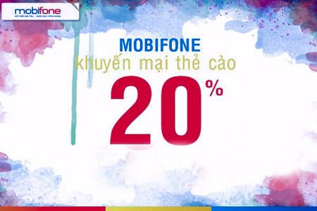 Khuyến mãi nạp thẻ MobiFone được ngay 20% giá trị thẻ nạp